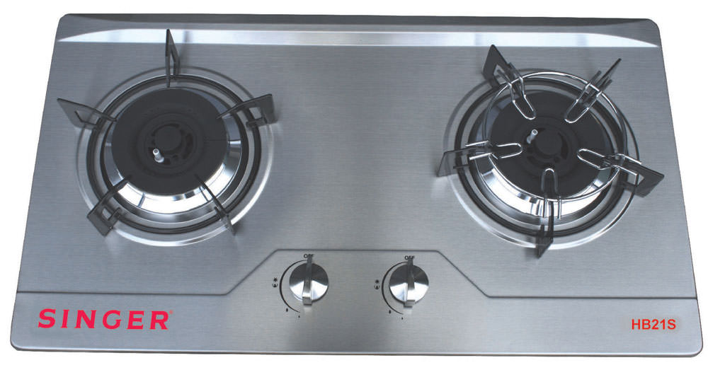Double Burner Stainless Steel Hob
